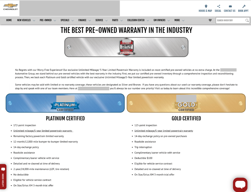 dealership seo tips: have a webpage dedicated to your niche